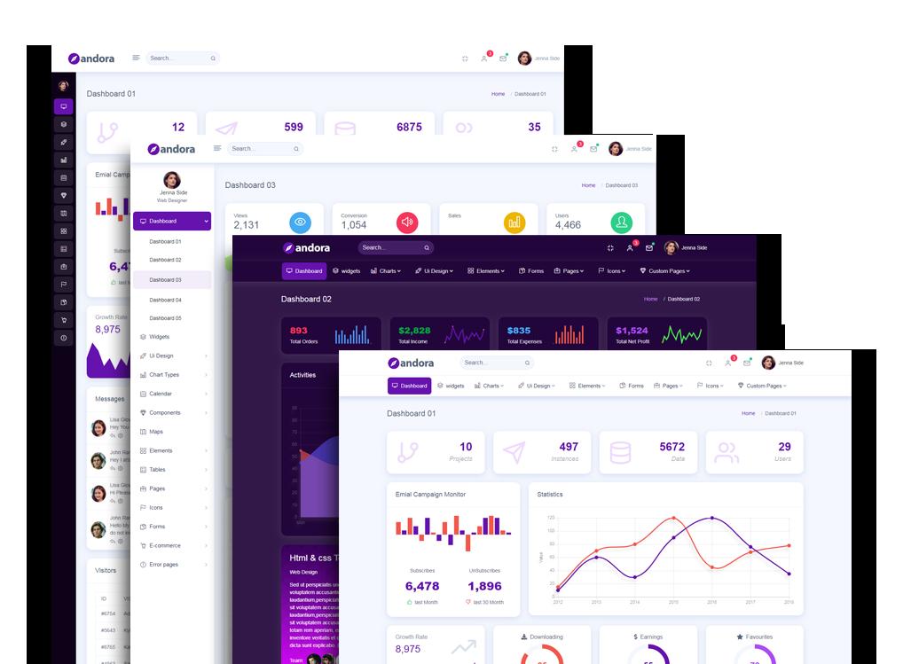 Andora - Bootstrap Responsive Admin WebApp Dashboard Template